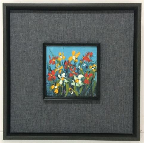 pro hart original painting on fabric mat box frame aprox 250 640x480 1